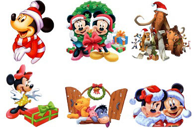 Скачать Cartoon Christmas Icons