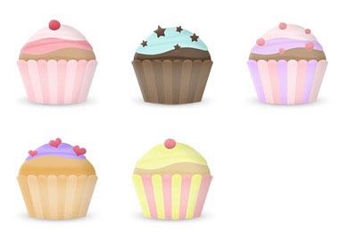 Скачать Free Cupcake Icons