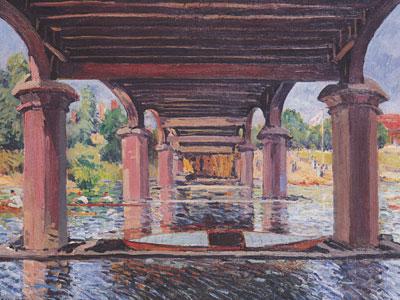 Under The Bridge At Hampton Court, 1874
