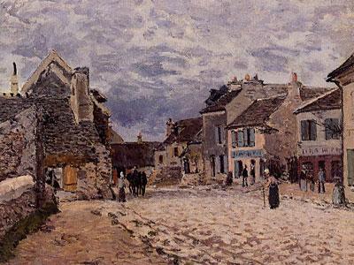 Village Street Grey Weather, 1874