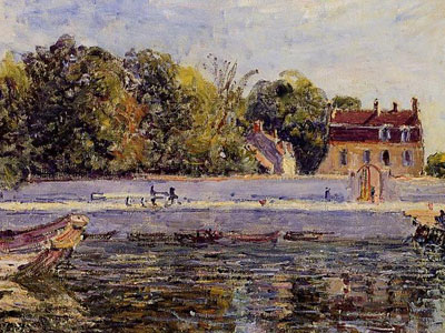 Saint Mammes House On The Canal Du Loing, 1885