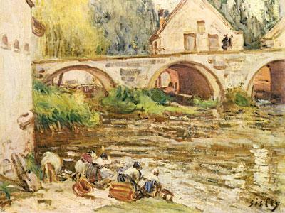 The Washerwomen Of Moret, 1888