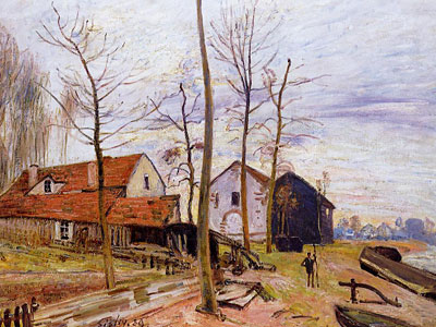 The Mills Of Moret Sunrise, 1889