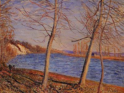 Riverbank At Veneux, 1881