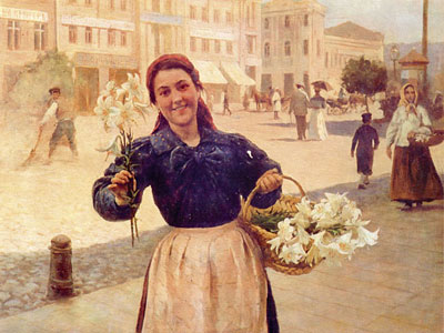 Kiev Flower Girl