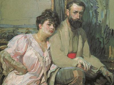Self Portrait With Wife, 1908