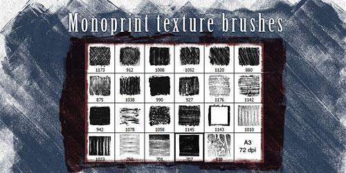 Скачать Monoprint Texture Brushes