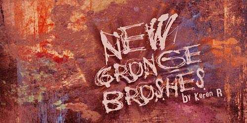 Скачать New Set Of Grungy Brushes