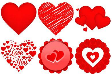 Скачать Free Valentine Heart Icons By Designbolts