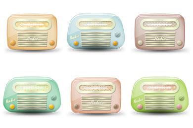 Скачать Vintage Radio Icons By Brainleaf