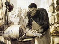 Гротескная карикатура и бытовая сатира от художника Оноре Домье