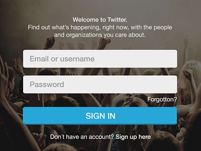 Twitter sign in by Dominik Martin