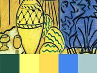 20 готовых цветовых палитр с картин художника Анри Матисса