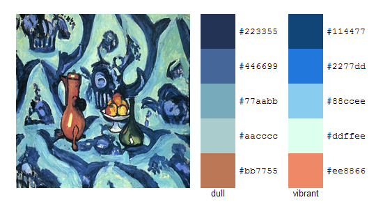 Палитра цветов с картин Анри Матисса 6