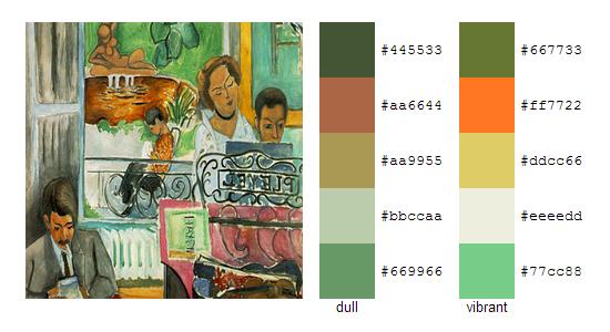 Палитра цветов с картин Анри Матисса 13