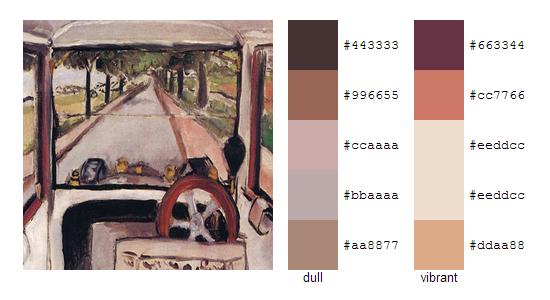 Палитра цветов с картин Анри Матисса 14