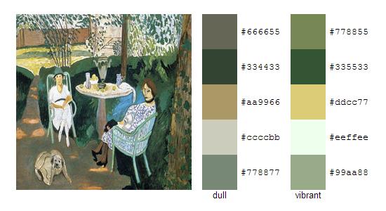 Палитра цветов с картин Анри Матисса 17