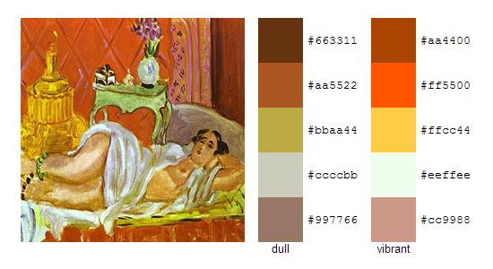 Палитра цветов с картин Анри Матисса 19