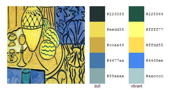 Палитра цветов с картин Анри Матисса 20