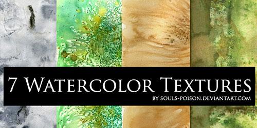 Скачать 7 Watercolor Textures