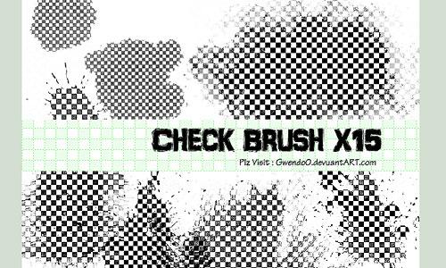 Скачать Check Photoshop Brush X15