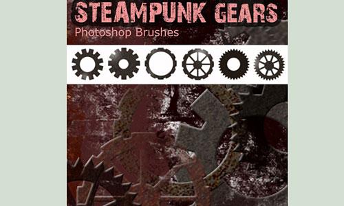 Скачать Steampunk Photoshop Brushes