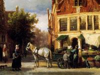 Старинные городские пейзажи от голландского художника Корнелиса Спрингера