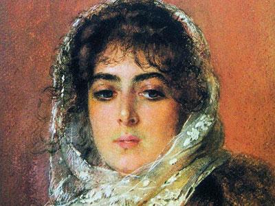 Перейти на Портрет жены художника Ю.П.Маковской