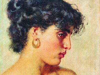 Перейти на Портрет темноволосой красавицы