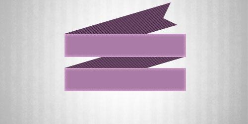 Создаем в фотошопе эмблему с имитацией загнутой ленты