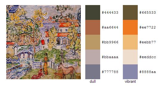 Палитра цветов с картин Мориса Прендергаста 20