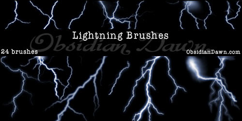 Перейти на Lightning Photoshop Brushes