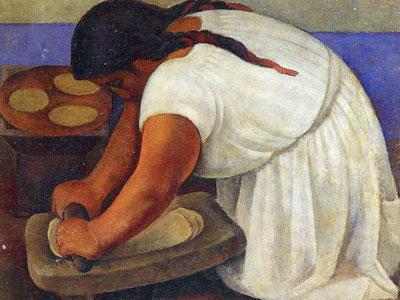 Перейти на Woman Grinding Maize
