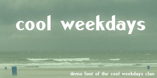 Скачать Cool Weekdays