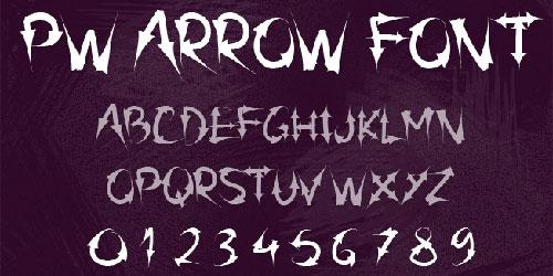 Скачать Pw Arrow Font