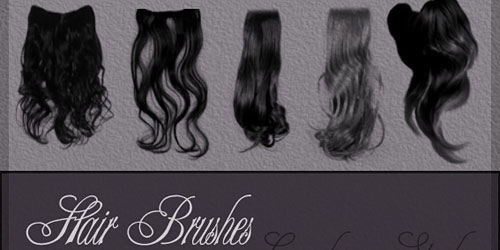 Скачать Hair Brushes By Lugubrum Stock