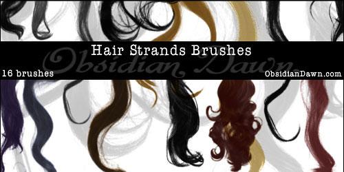 Скачать Wavy Hair Strands Brushes