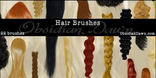Скачать Hair Photoshop Brushes