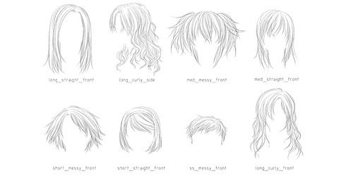 Скачать Lineart Hair Brushes 3