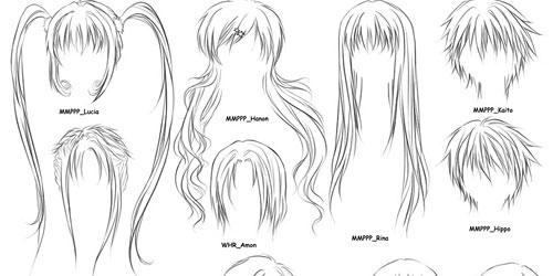 Скачать Anime Hairs Brushes 2