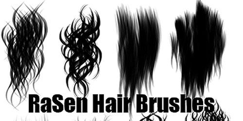 Скачать Painted Hair Brushes