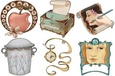 Скачать Art Nouveau Icons