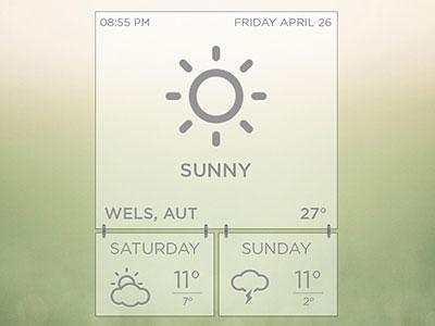 Minimal Weather Widget
