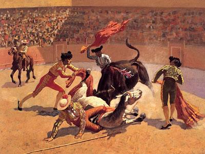 Перейти на Bull Fight In Mexico, 1889