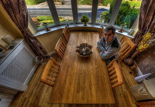 Wooden Table & Floor