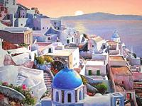 Ландшафты и морские пейзажи Греции от художника Pantelis Zografos