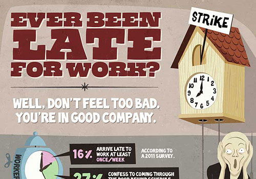 Перейти на Late For Work Infographic