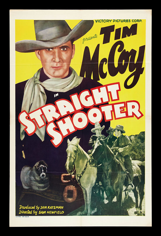 Straight Shooter Tim Mccoy Vintage