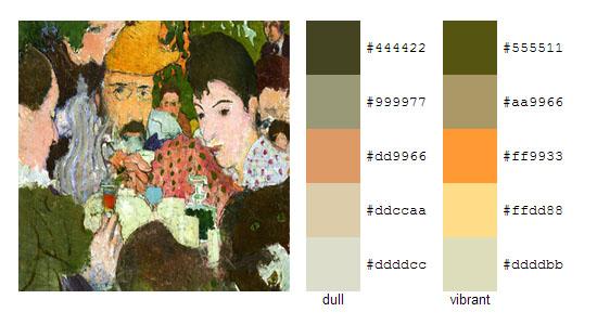 Палитра цветов с картин Пьера Боннара 1