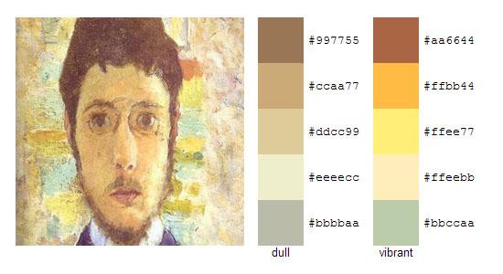 Палитра цветов с картин Пьера Боннара 5